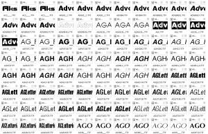 Рубленые шрифты