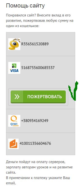 Кнопка liqpay на сайте