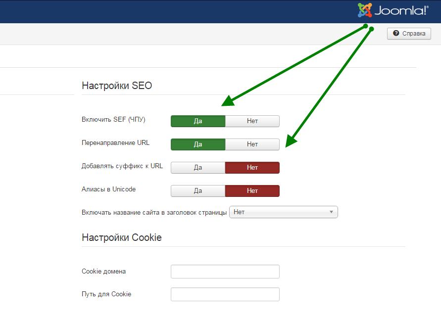 Убрать index.php из URL в Joomla 3